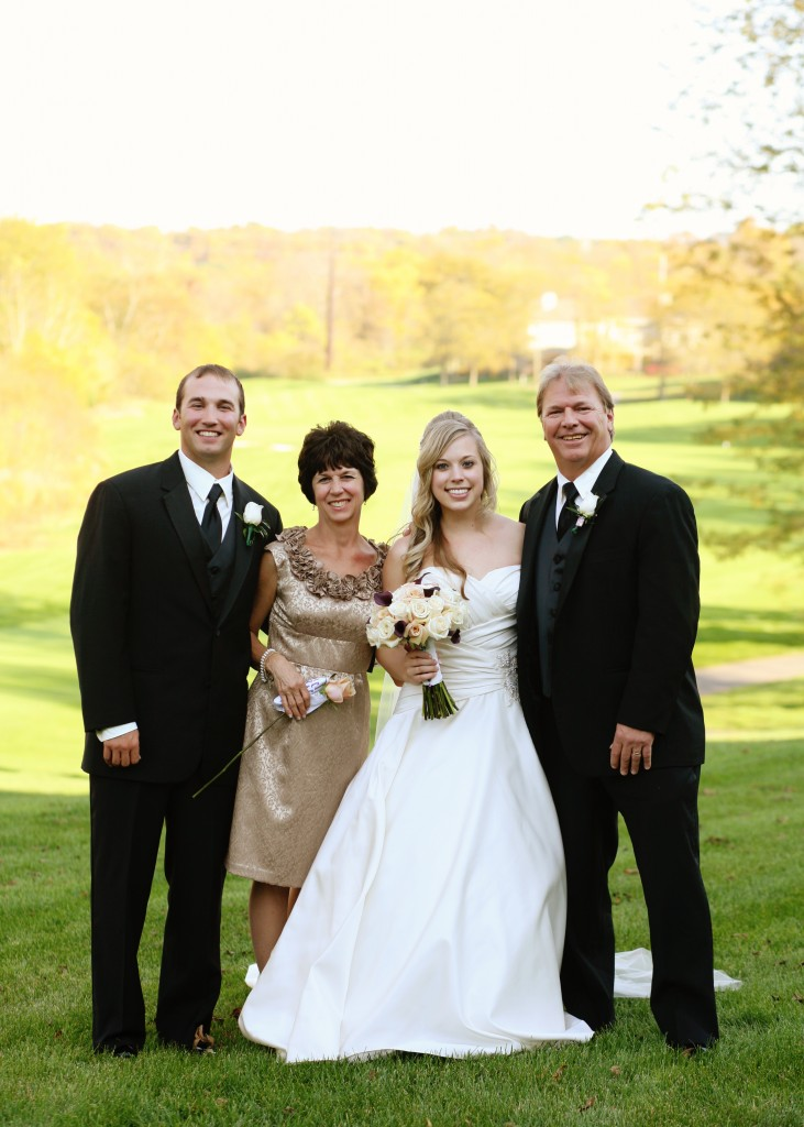 My wonderful family on my wedding day!