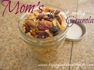 Mom&#8217;s &#8216;Sweet and Nutty&#8217; Granola