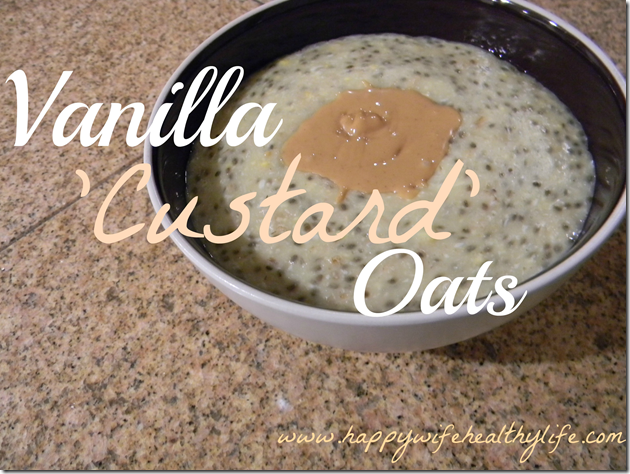 vanilla custard oats