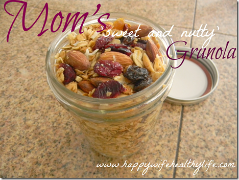 sweet and nutty granola