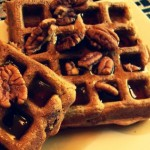 Whole Wheat Banana Pecan Waffles