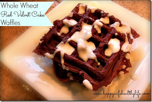 Whole Wheat Red Velvet Cake Waffles