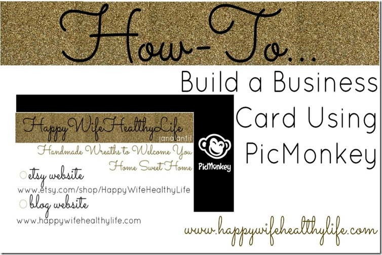 How to build a business card using picmonkey reheart Gallery