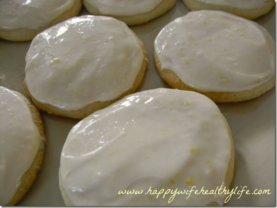 Lemon Cookies with Cream Cheese Lemon Icing www.happywifehealthylife.com
