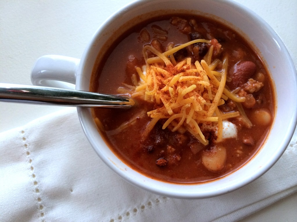 Healthy Buffalo Chicken Chili