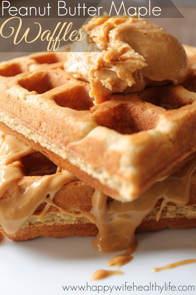 Peanut Butter Maple Waffles :: Peanut Butter & Co Mighty Maple