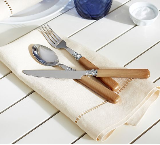 Pottery Barn Wood Outdoor Flatware Set