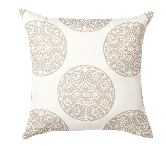 Pottery Barn Greta Medallion Indoor/Outdoor Pillow in neutral