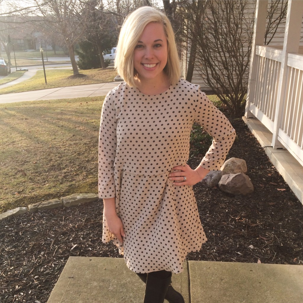 Madewell Silk Tee Dress in Dot