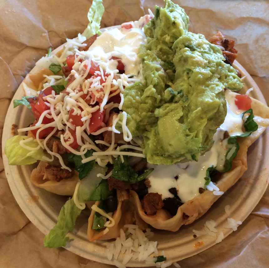 Qdoba Taco Salad - Pregnancy Craving