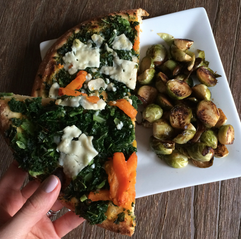 Trader Joe's Pizza + Brussels