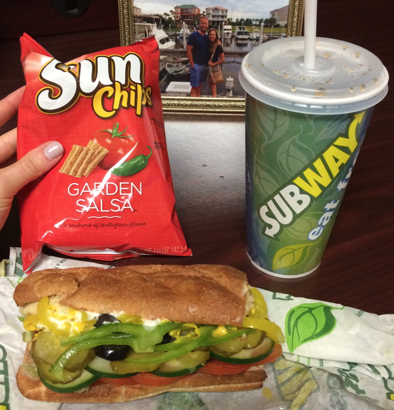 Subway Chicken Sandwich with all the veggies
