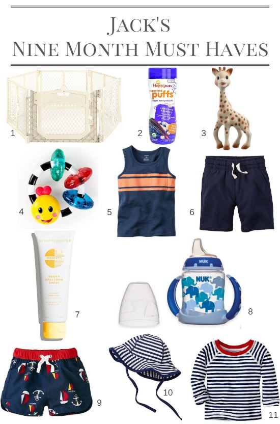 Jack's Nine Month Must Haves
