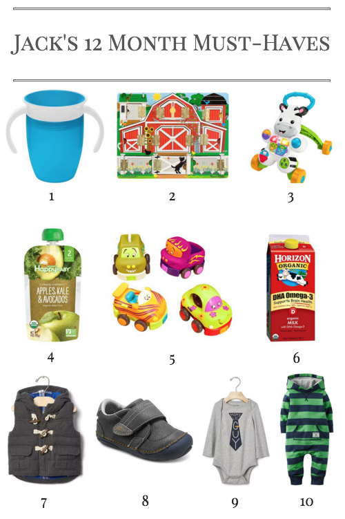 Jack's 12 Month Must-Haves