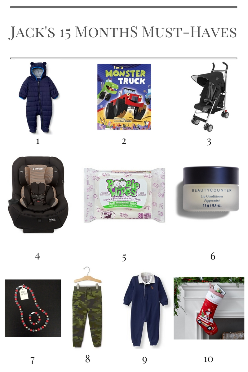 Jack's 15 Month Must-Haves