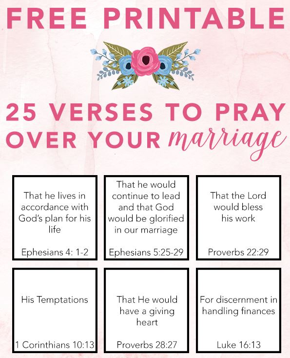 25 Verses to Pray Over Your Marriage