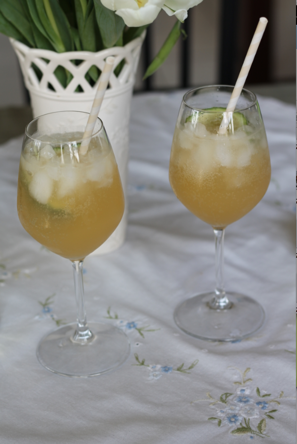 A Pretty Peach Mocktail for Two